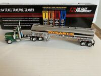 DCP 1//64 All Black Anhydrous Tandem Axle Tanker Trailer W// Show Fenders
