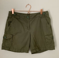 J Crew 100% Cotton Mid Rise Hiking/Cargo Shorts, Women's Size 4, Olive Green