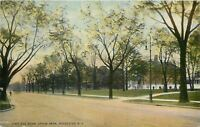 Rochester New York~East Avenue Homes~Near Upton Park~Man on Street~1918 Postcard