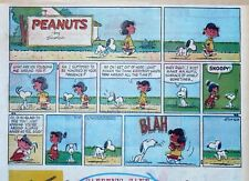 Peanuts by Charles Schulz - large half-page color Sunday comic - Sept. 18, 1960