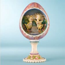 "Jim Shore Chicks/Egg Diorama Figurine ""Hatched Just in Time for Spring #4009253"
