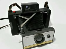 Vintage Polaroid Automatic Land Camera 215 With Original Leather Strap Cold Clip