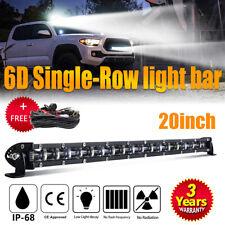 20inch 300W Single Row Led Light Bar Combo Slim Ford GMC 4WD SUV +Wiring Harness