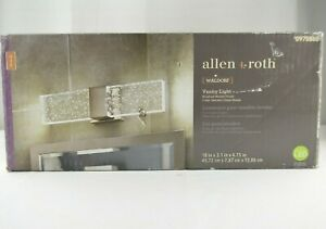 allen + roth Waldorf 1-Light 18-in Brushed Nickel Rectangle LED Vanity Light