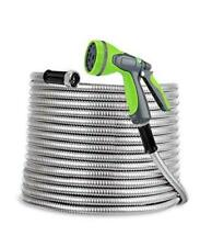 Sweetspace Metal Garden Hose 75ft 304 Stainless Steel With 10 Pattern 75ft