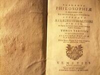Elementa philosophiae di fra'Lorenzo Altieri professore di teologia a Ferrara