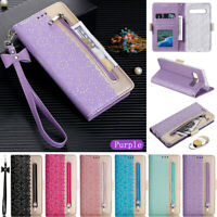 Zipper Wallet Leather Flip Case Cover For Samsung S20 S10 S9 S8 Plus A10 A50 A51