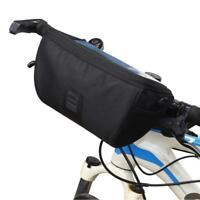Bike Bicycle Handlebar Bag Pannier Frame Tube Outdoor Cycling Pouch Front Basket