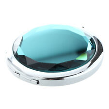 3x(travel Compact Pocket Crystal Folding Makeup Mirror Ocean Blue G4k9 J4g6