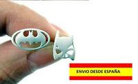PENDIENTE ZARCILLO BATMAN SUPER HEROES PIERCING PLATEADOS PUNK ROCK MODA BELLOS