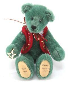 "4 3/4"" World of Miniature Bears mohair german teddy bear YULE 1999 christmas"