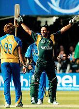 Shahid AFRIDI Signed Autograph 16x12 Pakistan Cricket Legend Photo AFTAL COA