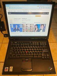 Lenovo ThinkPad R51 14.1 Intel Cent 1.70GHz 512GB RAM 40GB HDD DVD-CD/RW Wifi