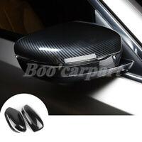 Für BMW 5 Series G30 G31 ABS Karbonfaser-Stil Spiegelkappen Außenspiegel Rahmen