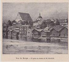 1899  --  VUE DE BORGA  PORVOO  FINLANDE   3H515