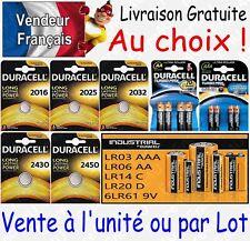 Piles DURACELL : CR2032 CR2025 CR2016 CR2450 CR2430 - LR6 LR03 6LR61 LR14 LR20