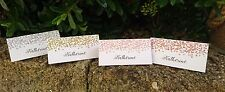 10 Personalised Christmas Glitter Confetti Table Place Name setting Cards xmas