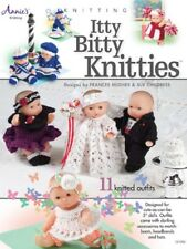 "Knitting Pattern Book ITTY BITTY KNITTIES ~ Knit 5"" Doll Clothes / Outfits"