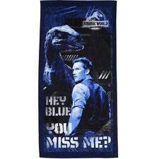 Hey Blue You miss me Jurassic World Dinosaur towel Beach Swimming Holiday Raptor