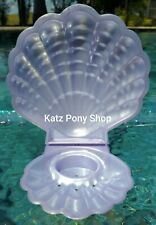HQG1C Vintage G1 My Little Pony Style Sea Glimmers Clam Shell 💜PURPLE PEARL💜