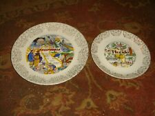 New Listing2 Vintage 1950's/60's State Souvenir Plates - California and Florida Free Ship