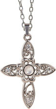AngelStar Floral Cross Stanhope Magnifier Pendant (13853)