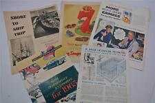 1960s Magazine Newspaper Ads Ford Thunderbird Gilbey's Gin Segram's 7 Jello