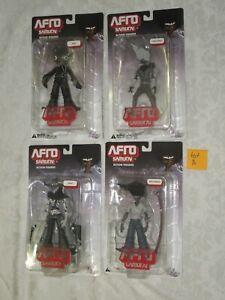 DC Unlimited Direct Funimation Afro Samurai Kuma Justice Ninja Lot of 4 A Figure