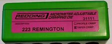 31111 REDDING MICRO-ADJUSTABLE TAPER CRIMP DIE - 223 REMINGTON 5.56 - BRAND NEW