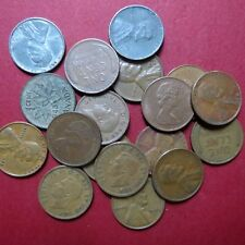 *Mixed LOT of  Circulated  18 Vintage  US/CANADA WHEAT/SMALL CENTS, Coin Lot #8