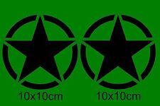 2x US ARMY Stern Auto Aufkleber Fun USA Sticker Tuning Stickerbomb Shockerhand h