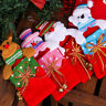 Christmas Kids Gift Candy Bags Santa Claus Snowman Elk Storage Bag Decor FS