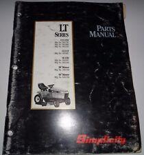 Simplicity LT Series 12.5LTH 12.5LT 16LTH Lawn Tractor Parts Catalog Manual book