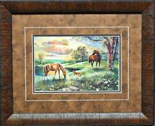 Jim Hansel Spirit Horse and Colt Print-Framed 21 x 17