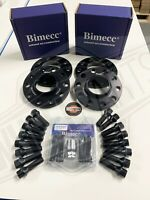 BMW ALLOY WHEEL SPACERS 12mm / 15mm 1 2 3 4 5 SERIES M14X1.25 + LOCKERS BIMECC