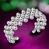Fashion Women 925 Sterling Silver Plated Grape Beads Bangle Cuff Charm Bracelet
