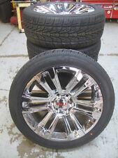 "22"" New GMC Yukon Sierra Factory Style Chrome Wheels 3054022 Nexen Tires 4741A R"