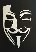 Anonymous Mask Guy Fawkes Sticker Decal Vinyl for Audi A1 A2 A3 A4 A5 A6 A7 A8