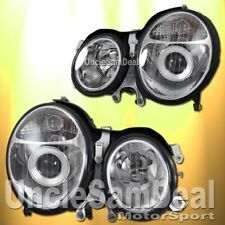 MERCEDES BENZ E-CLASS OE STYLE CLEAR PROJECTOR HEADLIGHTS PAIR HALOGEN BULB ONLY