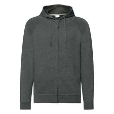 Mens Light Weight Thin Slim Fit Zip Zipped Hoodie Hoody Hooded Top Zoodie Sweat