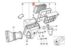 Genuine BMW E36 E38 E39 E46 E83 E85 Engine Air Filter Insert OEM 13721730449