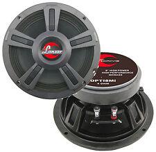 "2) New Lanzar OPTI8MI 8"" 800 Watt 4-Ohm High Power Mid Bass Car Audio Speakers"