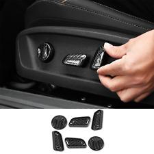 For 16-2020 Volkswagen Passat Carbon Fiber Seat Button Adjust Switch Cover Trim