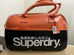 Superdry Tricolour Racket Tote Bag - Black BNWT - Ref RK02