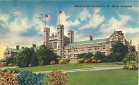 Postcard Washington University, St. Louis, MO Posted 1955