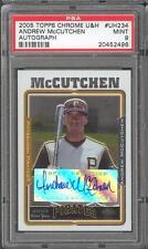 Andrew McCutchen 2005 Topps Chrome U&H UH234 Auto Rookie Card rC PSA 9 Mint