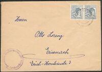 Alliierte Besetzung Brief mit 2x Mi.-Nr.947 Großenbehringen nach Eisenach