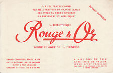 Buvard vintage Rouge & Or bibliothèque