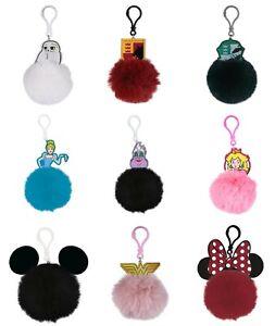 Genuine Branded Acrylic and Pom Pom Keyring Keychain Fob Marvel Friends Disney