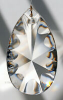 63mm Asfour Scalloped Pear Crystal Clear Prism SunCatcher 2-1/2""